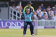 Laura Marsh of England (7) goes close during the Royal London Women's One Day International match between England Women Cricket and Australia at the Fischer County Ground, Grace Road, Leicester, United Kingdom on 4 July 2019.