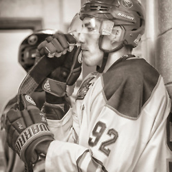 TRENTON, ON - NOV 10:  C during the OJHL regular season game between the  Buffalo Jr Sabres and Trenton Golden Hawks on November 10, 2016 in Trenton, Ontario. (Photo by Amy Deroche/OJHL Images)