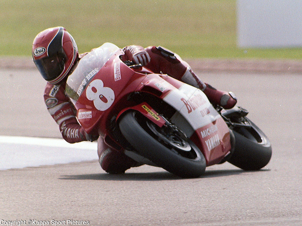 Randy Mamola, USA, Global Motorsport Budweiser Yamaha, 500cc, British Motorcycle Grand Prix, Donington Park, 2nd August 1992