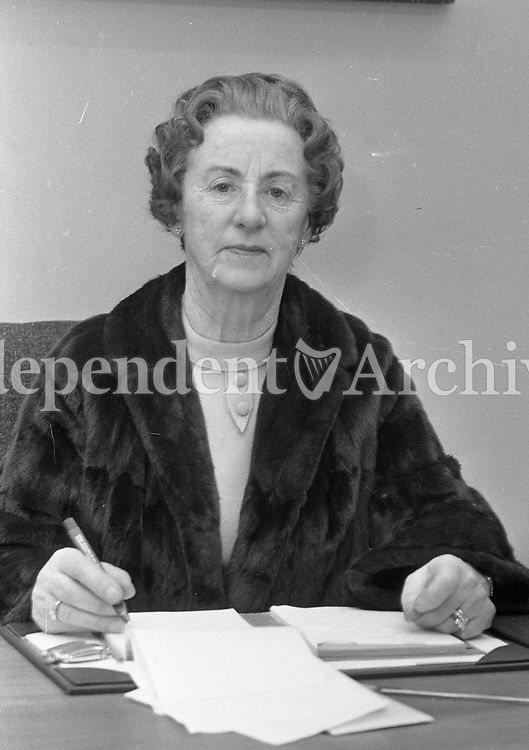 Mrs. Mary Guiney, Managing Director of Clerys. 8/1/1971. (Part of the Independent Newspapers Ireland/NLI Collection)