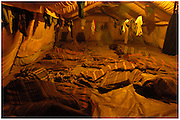 Bea Ahbeck/Fremont Argus<br /> <br /> Night commuters sleep at Noah's Ark, one of the shelters provided for night commuters in Gulu, Northern Uganda Saturday morning, October 29, 2005. Thousands of children make the commute every night from surrounding villages to avoid being abducted by the Lord's Resistance Army and turned into child soldiers or sex slaves. Joseph Kony's rebel army have abducted over 20,000 children in the last 18 years of war.