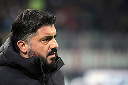 January 26, 2019 - Milan, Milan, Italy - head coach of AC Milan Gennaro Gattuso during the serie A match between AC Milan and SSC Napoli at Stadio Giuseppe Meazza on January 26, 2018 in Milan, Italy. (Credit Image: © Giuseppe Cottini/NurPhoto via ZUMA Press)