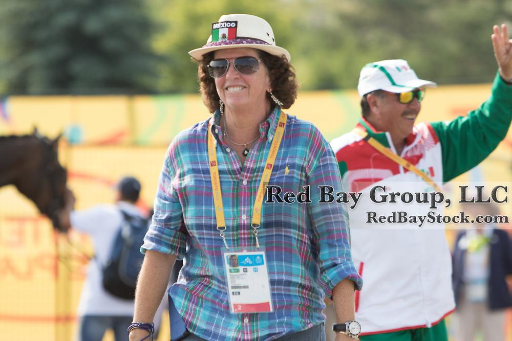 Pamela Honey (MEX) at the OLG Caledon Pan Am Equestrian Park during the Toronto 2015 Pan American Games in Caledon, Ontario, Canada.