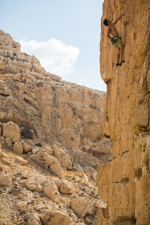 Ofer Blutrich decided to take a birthday challange and to climb 36 pitches in 24 hours all over Israel in the 4 major crags :<br /> timna , ein prat ,gita and nezer cave<br /> <br /> photographer - Gilad Kavalerchik<br /> <br />    www.Giladka.com