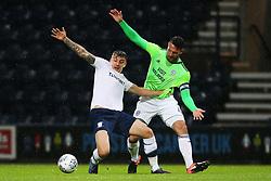 Cardiff City's Sean Morrison challenges Jordan Hugill of Preston North End - Mandatory by-line: Matt McNulty/JMP - 12/09/2017 - FOOTBALL - Deepdale Stadium - Preston, England - Preston North End v Cardiff City - SkyBet Championship