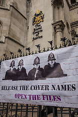 5 Feb 2018 - Spy cops protest says 'name names' at the Royal Court of Justice in London