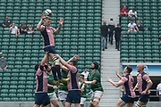 Twickenham, Lancashire, 27th May 2018. Bill Beaumont Division 1 Final, Tom McCROME, redirects the line out ball, during the Lancashire vs Hertfordshire,  rugby match at the  RFU. Stadium, Twickenham. UK.  <br /> <br /> © Peter Spurrier/Alamy Live News