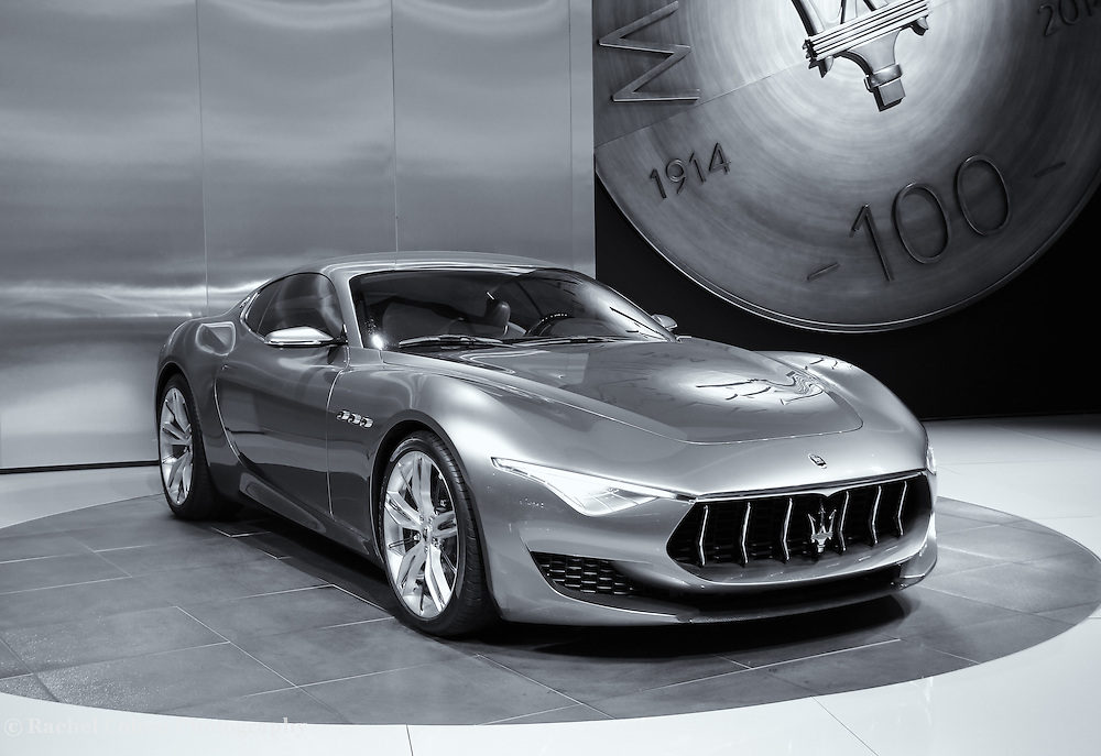 &quot;Maserati Alfieri Reflections&quot; Mono<br /> <br /> A beautiful monochrome image of the Maserati Alfieri!