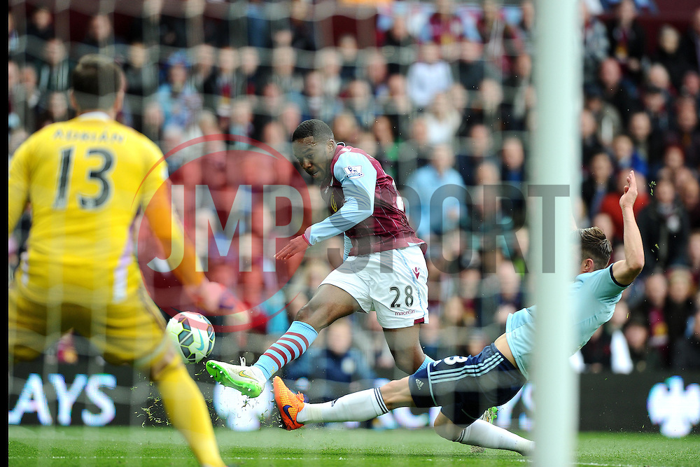 Aston Villa's Charles N'Zogbia goes close  - Photo mandatory by-line: Joe Meredith/JMP - Mobile: 07966 386802 - 09/05/2015 - SPORT - Football - Birmingham - Villa Park - Aston Villa v West Ham United - Barclays Premier League