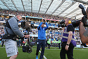 Bobby Zamora is introduced to the Albion fans before kick-off of the Sky Bet Championship match between Brighton and Hove Albion and Nottingham Forest at the American Express Community Stadium, Brighton and Hove, England on 7 August 2015.