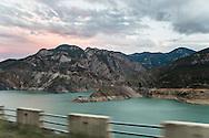 ladscape between Borcka and Artvin. The Çoruh River.