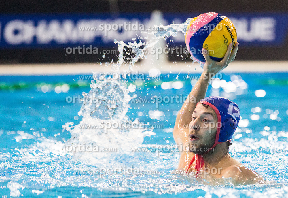 Aggelos Vlachopoulos of Olympiacos during water polo match between Primorje Erste Bank (CRO) and Olympiacos Piraeus (GRE) in 8th Round of Champions League 2016, on April 16, 2016 in Kantrida pool, Rijeka, Croatia. Photo by Vid Ponikvar / Sportida