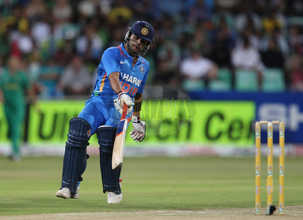 Virat Kohli during the 1st ODI between South Africa and India held at Kingsmead Stadium in Durban, South AFrica on the 12th January 2011 )..Photo by Steve Haag/BCCI/SPORTZPICS