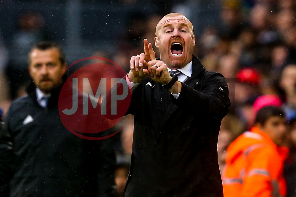 Burnley manager Sean Dyche - Mandatory by-line: Robbie Stephenson/JMP - 26/08/2018 - FOOTBALL - Craven Cottage - Fulham, England - Fulham v Burnley - Premier League