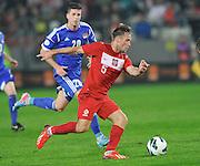Poland, Krakow - June 04 .<br />Poland vs Lichtenstein International Friendly match at Cracovia Stadium on June 2, 2013 in Krakow.<br />Maciej Rybus of Poland scores the second goal<br />Photo by: Piotr Hawalej