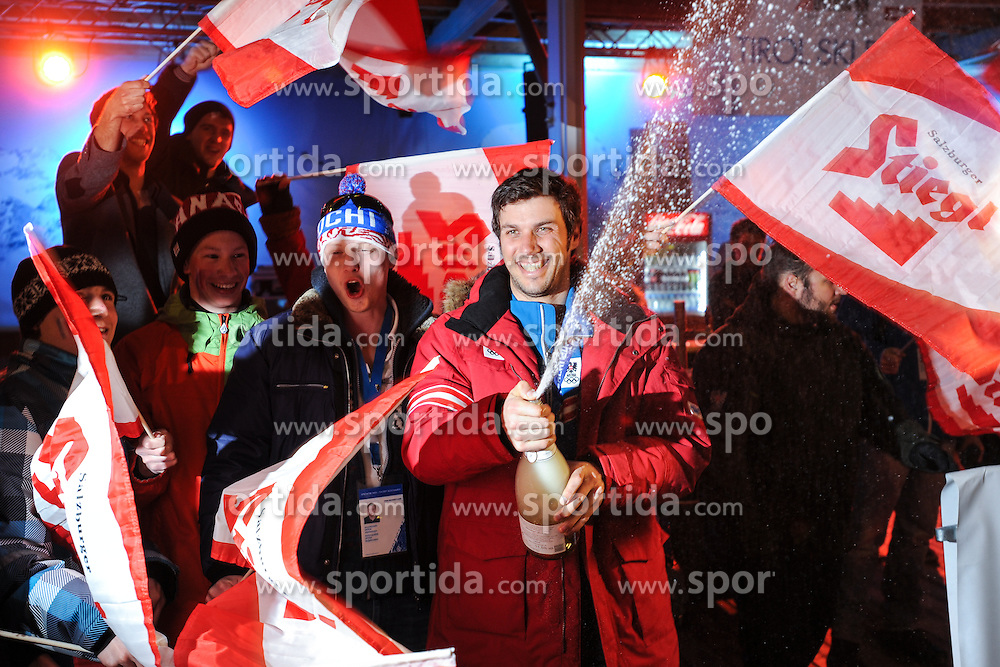 22.02.2014, Austria Tirol House, Sochi, RUS, Sochi 2014, Medaillenfeier, im Bild Olympiasieger Mario Matt (AUT) // olympic Champion Mario Matt of Austria during the medal party in Austria house Tyrol at the Olympic Winter Games 'Sochi 2014' at the Austria Tirol House in Krasnaya Polyana, Russia on 2014/02/22. EXPA Pictures © 2014, PhotoCredit: EXPA/ Erich Spiess
