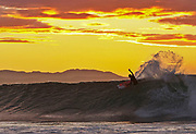 Again Kieren Perrow from Australia taking the high line at sunrise J-Bay