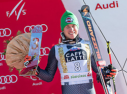 18.12.2016, Grand Risa, La Villa, ITA, FIS Ski Weltcup, Alta Badia, Riesenslalom, Herren, Siegerpräsentation, im Bild Florian Eisath (ITA, 3. Platz) // third placed Florian Eisath of Italy during the winner presentation for the men's Giant Slalom of FIS ski alpine world cup at the Grand Risa race Course in La Villa, Italy on 2016/12/18. EXPA Pictures © 2016, PhotoCredit: EXPA/ Johann Groder#