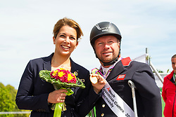 Lee Pearson and Zion World Champion Freestyle Para Dressage Grade Ib with Princess Haya bint al Hussein- Alltech FEI World Equestrian Games™ 2014 - Normandy, France.<br /> © Hippo Foto Team - Leanjo de Koster<br /> 25/06/14