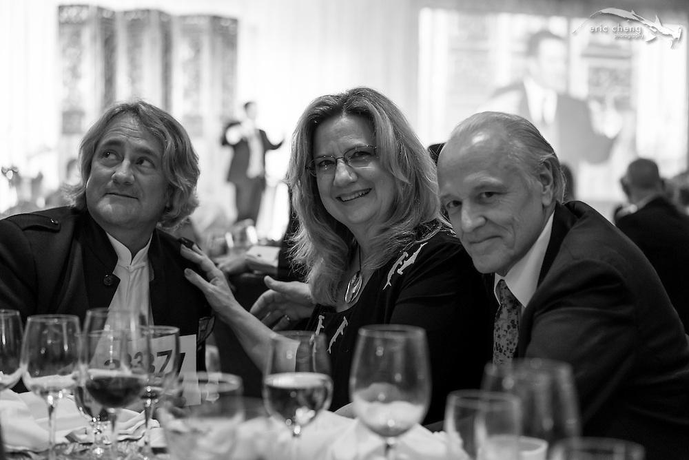 Douglas Seifery with Susan and Chip Scarlett; WildAid Gala, November 15, 2014