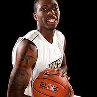 Guard Amara Thompson of the University of Central Florida Knights mens basketball team poses on media day at the UCF Arena on October 14, 2010 in Orlando, Florida. (AP Photo/Alex Menendez)