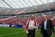 "(L) Boguslaw Galazka - director of Special Olympics Poland & (R) Michal Listkiewicz - former President of Polish Football Association  before demonstration match of the Special Olympics as part of the Respect Inclusion ""Football With No Limits"" before the UEFA EURO 2012 Quarterfinal football match between Portugal and Czech Republic at National Stadium in Warsaw on June 21, 2012...Poland, Warsaw, June 21, 2012..Picture also available in RAW (NEF) or TIFF format on special request...For editorial use only. Any commercial or promotional use requires permission...Photo by © Adam Nurkiewicz / Mediasport"