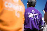 Hundreds walk to support the fight against cancer during Relay For Life at the Milpitas Sports Center in Milpitas, California, on June 22, 2013. (Stan Olszewski/SOSKIphoto)