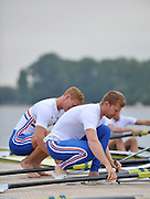 Reading, Great Britain,  GBR M2X. Matt WELLS and Marcus BATEMAN.  2011 GBRowing World Rowing Championship, Team Announcement.  GB Rowing  Caversham Training Centre.  Tuesday  19/07/2011  [Mandatory Credit. Peter Spurrier/Intersport Images]