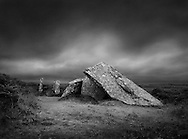 Zennor Quoit, a neolithic burial chamber tomb, West Penwith, Cornwall.