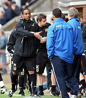Photo: Mark Stephenson.<br /> Hereford United v Milton Keynes Dons. Coca Cola League 2. 20/10/2007.Paul Ince shakes hands with Graham Turner after the game