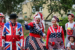 © Licensed to London News Pictures. 02/02/2020. London, UK. Clowns arrive to attend a service at All Saints Church in East London in memory of Joseph Grimaldi (1778-1837), an English actor, comedian and dancer, who is widely considered to be the 'Father' of modern clowning. Photo credit: Dinendra Haria/LNP