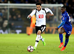 Cyrus Christie of Derby County runs with the ball - Mandatory by-line: Robbie Stephenson/JMP - 08/02/2017 - FOOTBALL - King Power Stadium - Leicester, England - Leicester City v Derby County - Emirates FA Cup fourth round replay