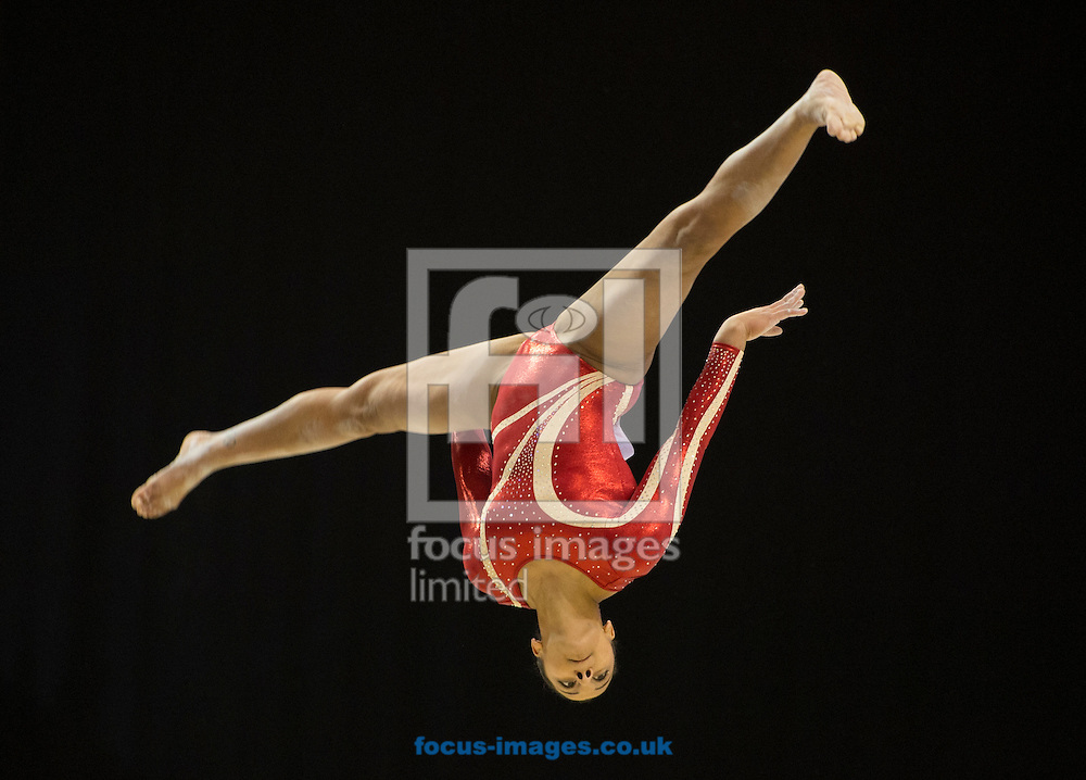 Rebecca Downie of Notts Gymnastics Club competes on the beam during Day Three of the British Gymnastics Championships at Echo Arena, Liverpool<br /> Picture by Russell Hart/Focus Images Ltd 07791 688 420<br /> 10/04/2016