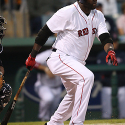 March 14, 2011; Fort Myers, FL, USA; Boston Red Sox designated hitter David Ortiz (34) during a spring training exhibition game against the New York Yankees at City of Palms Park.   Mandatory Credit: Derick E. Hingle