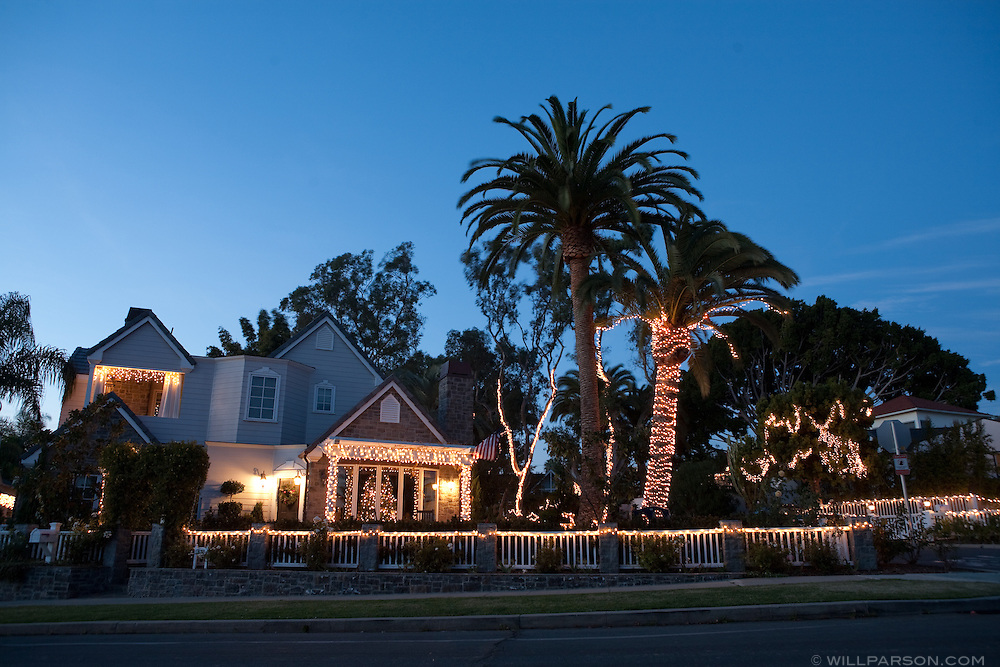 The 5500 block of Waverly Avenue in La Jolla featured an impressive holiday light display to which just about everyone on the block contributed.