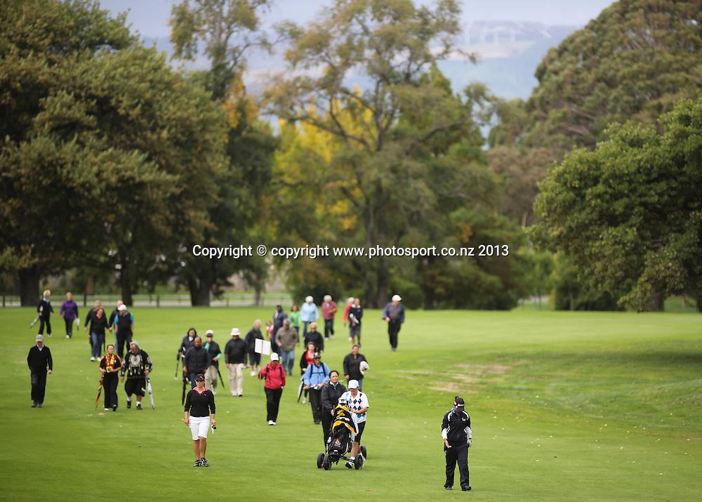 The final of the 2013 New Zealand Amateur Championship, Manawatu Golf Club, Palmerston North, New Zealand. Sunday 26 April 2013. Photo: John Cowpland / photosport.co.nz