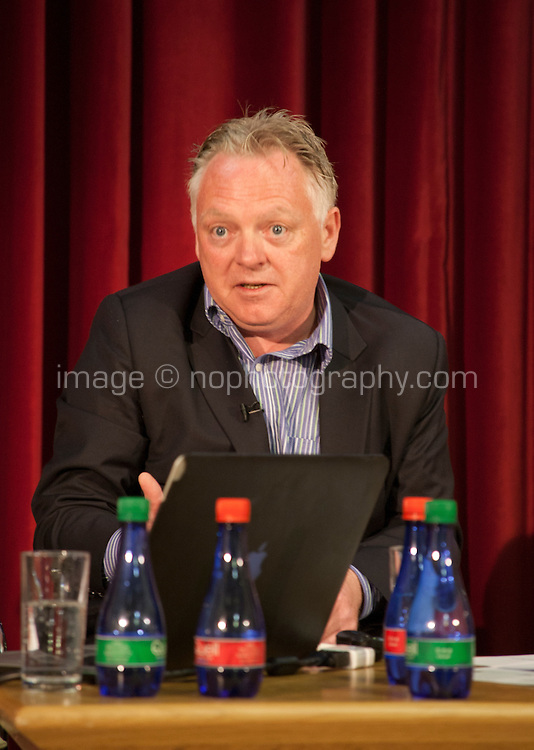 Remaking the Shape of the World,   Interim Secretary General of the Irish Red Cross discuss Climate Change as part of Galway International Arts Festival First Thought Talks, Galway City, Saturday 18th July 2015. Photo credit: Doreen Kennedy