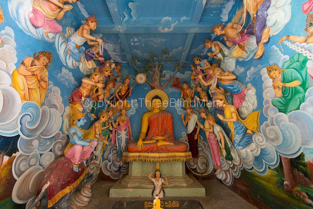 Sri Pushparama Maha Viharaya, Balapitiya. Interior by H. M. Mendis of Ahangama.