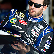 April 27, 2012:  Sprint Cup Series driver Jimmie Johnson (48) climbs into his car for the start of practice at the Capital City 400 at Richmond International Raceway, Richmond, VA. (Credit Image: © Kostas Lymperopoulos/Cal Sport Media)