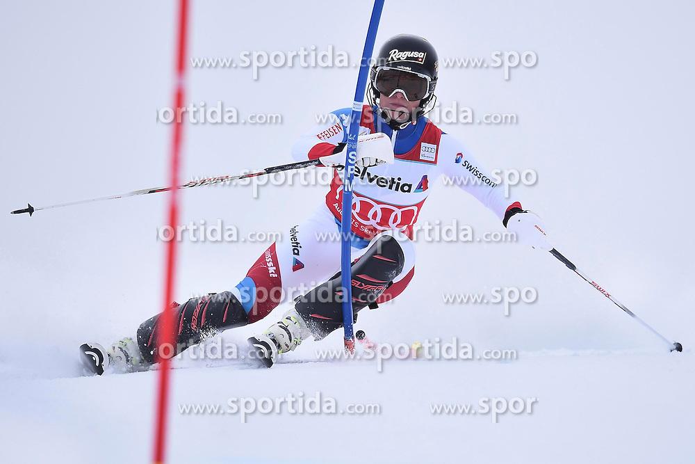 13.03.2016, Pista Silvano Beltrametti, Lenzerheide, SUI, FIS Weltcup Ski Alpin, Lenzerheide, Superkombination, Slalom, Damen, im Bild Lara Gut (SUI) // during ladie's Supercombi, Slalom Race of Lenzerheide FIS Ski Alpine World Cup at the Pista Silvano Beltrametti in Lenzerheide, Switzerland on 2016/03/13. EXPA Pictures &copy; 2016, PhotoCredit: EXPA/ Freshfocus/ Manuel Lopez<br /> <br /> *****ATTENTION - for AUT, SLO, CRO, SRB, BIH, MAZ only*****