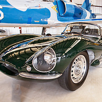 "Steve McQueen's ""Green Rat"" Jaguar XKSS and jet, Planes and Cars at the Santa Fe Airport, 2013 Santa Fe Concorso."