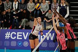 20180110 NED: CEV CUP Sliedrecht Sport - Beziers Angels VB: Sliedrecht<br />Esther Hullegie (3) of Sliedrecht Sport <br />©2018-FotoHoogendoorn.nl / Pim Waslander