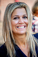 13-9-2018 SCHIEDAM - Queen Maxima visits the YETS Foundation in Schiedam, one of the three winners of an Appeltje van Oranje 2018. S ROBIN UTRECHT **