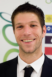 Bostjan Cesar at official presentation of Slovenian National Football team for World Cup 2010 South Africa, on May 21, 2010 in Congress Center Brdo at Kranj, Slovenia. (Photo by Vid Ponikvar / Sportida)