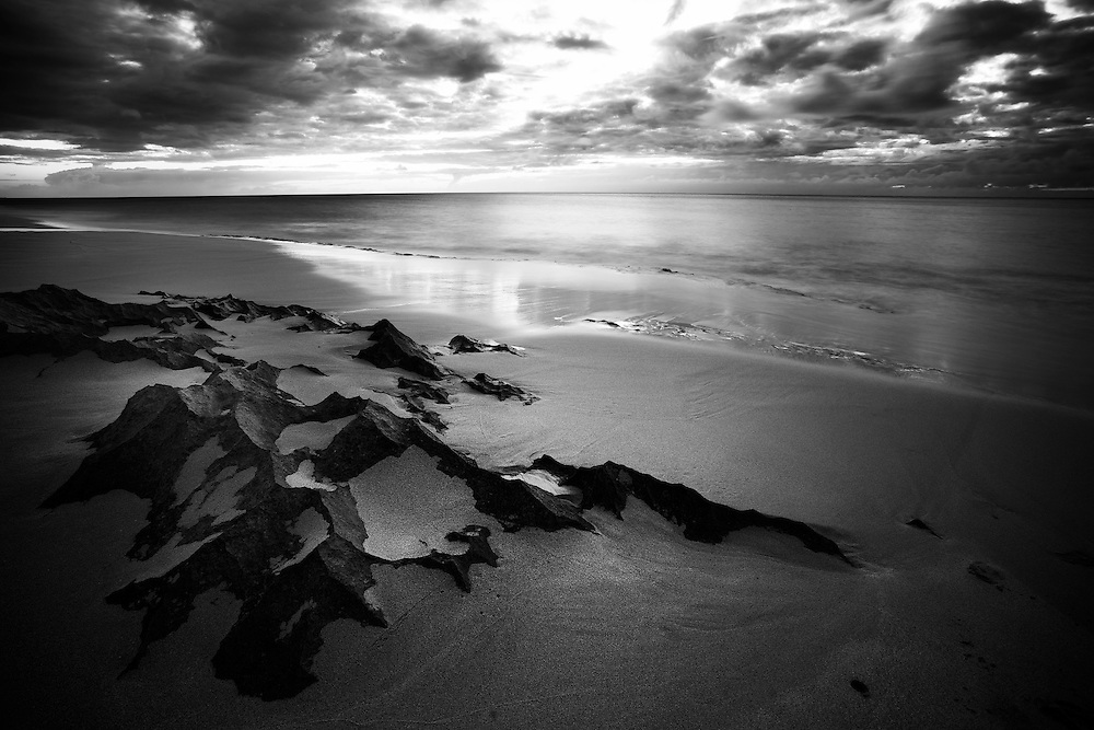 Black And White Photographysurf Artbeach Of Hawaii Sunset