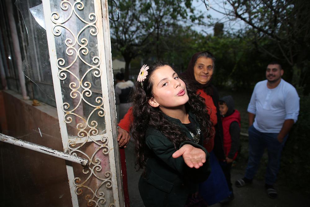 Razvan's niece, his nan and himself