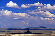 Boars Tusk, a volcanic plug in the Red Desert. Great Divide Basin, Wyoming