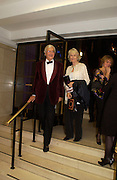 Lord and Lady Baker of Dorking, The Man Booker prize awards ceremony 2004 . The Royal Horticultural Hall, 19 October 2004. ONE TIME USE ONLY - DO NOT ARCHIVE  © Copyright Photograph by Dafydd Jones 66 Stockwell Park Rd. London SW9 0DA Tel 020 7733 0108 www.dafjones.com