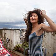 Napoli, Italy, February 5, 2014. Pietra Montecorvino, Italian singer, passionate interpreter of Neapolitan songs.