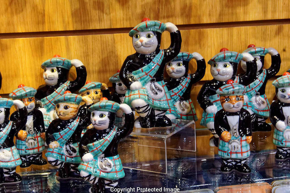 A rare troop of Scottlish Dancing Cats, photographed at Gretna Green on the Scottish borders.